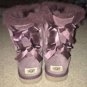 Purple Bow Uggs